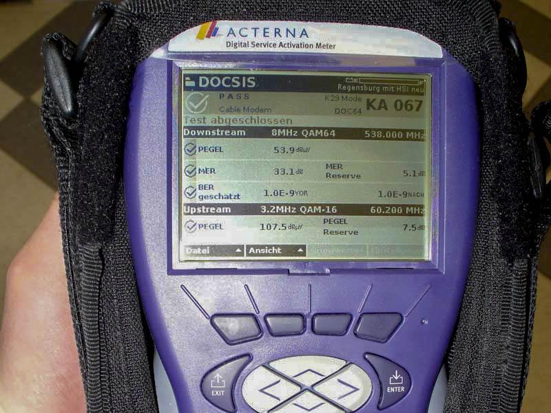 Messgerät zum Prüfen der Empfangsqualität