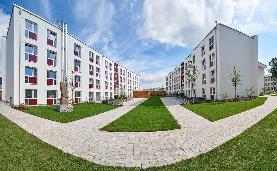 Modernes Studentenwohnheim mit schönem Innenhof